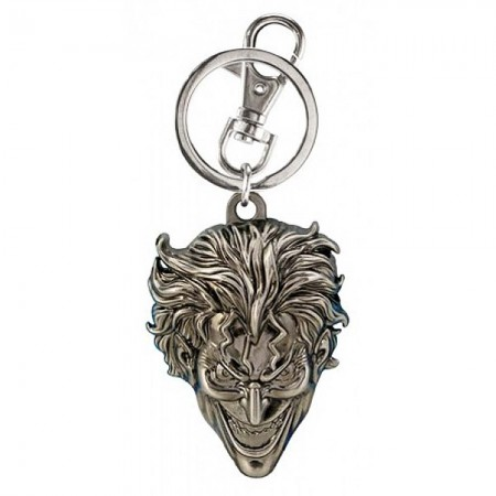 The Joker Silver Pewter Keychain