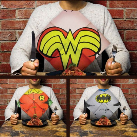 DC Comics Justice League Dress Up Bib Napkins