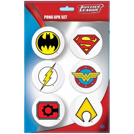 Justice League Beer Pong Superhero Logo Balls
