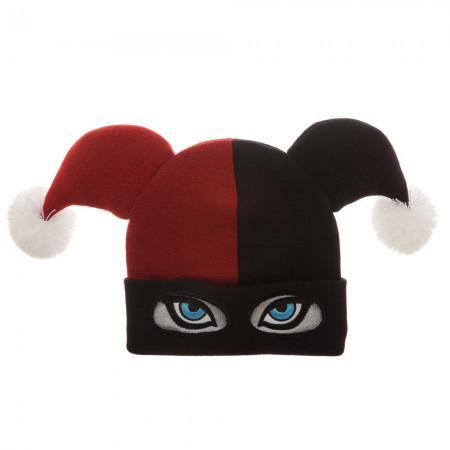 Harley Quinn Winter Costume Mask Hat