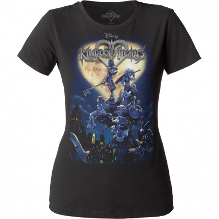Kingdom Hearts Women's Black Cover T-Shirt