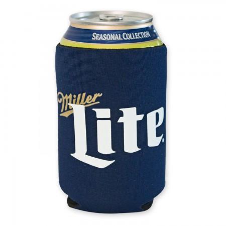 Miller Lite Navy Blue Can Cooler