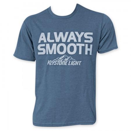 Keystone Light Men's Blue Always Smooth T-Shirt