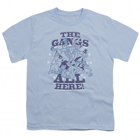 Looney Tunes The Gangs All Here Youth Tshirt