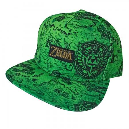 Zelda Map Print Snapback Hat