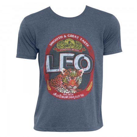 Leo Beer Men's Denim Blue T-Shirt