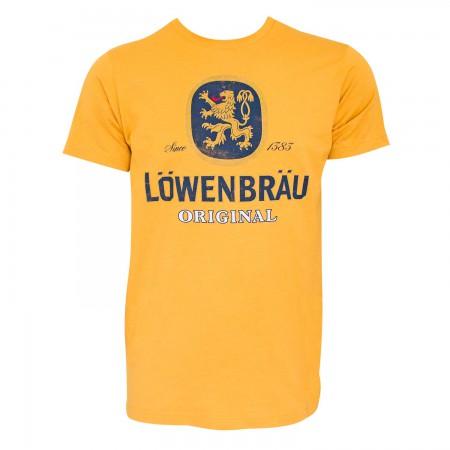 Lowenbrau Men's Yellow Logo T-Shirt