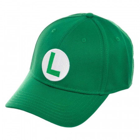 Super Mario Bros. Luigi Logo Flex Fit Green Men's Hat