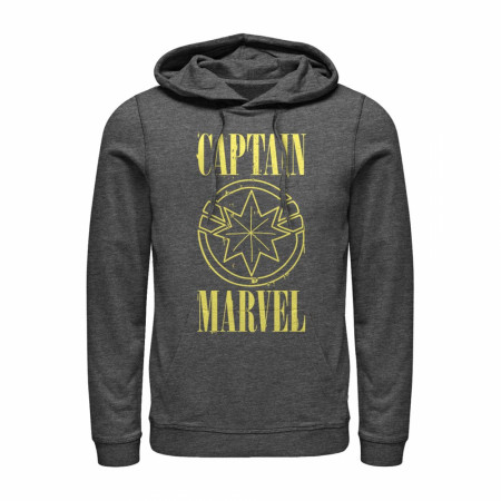 Marvel Captain Marvel Stained Star Symbol Hoodie