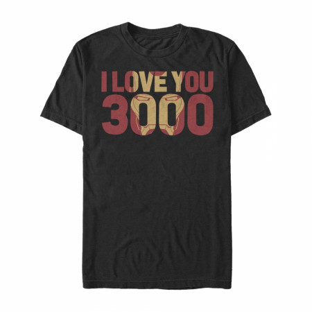Marvel Iron Man Love 3000 Mask T-shirt