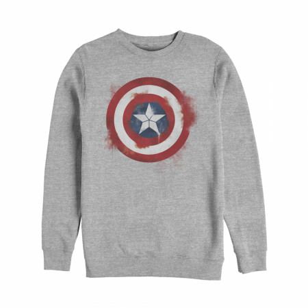 Captain America Painted Logo Crewneck Sweatshirt