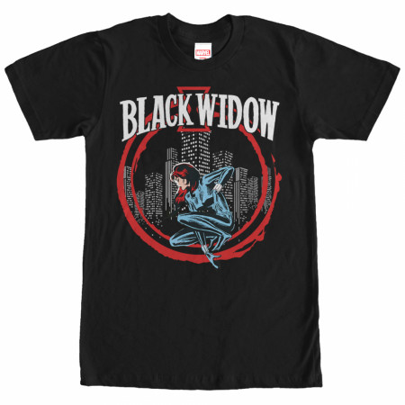 Black Widow Red Circle T-Shirt