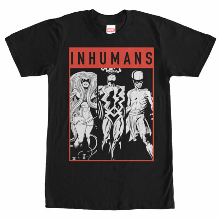 Marvel Inhumans Grayscale Team T-Shirt