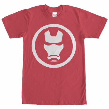 Iron Man Mask Men's Red T-Shirt