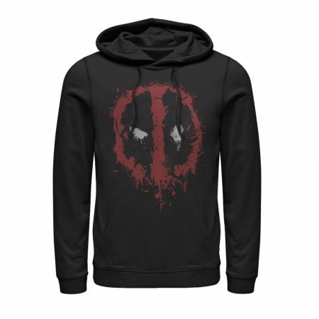Deadpool Splatter Logo Black Hoodie