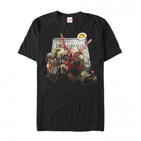 Deadpool Taco Zombie Black Tshirt