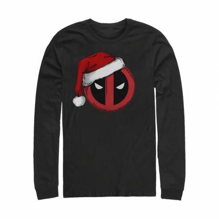 Deadpool Holiday Cheer Santa Hat Long Sleeve Shirt