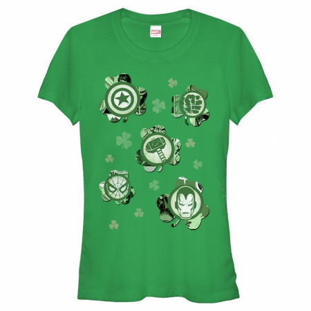 Avengers Logos Shamrocks Women's Green T-Shirts