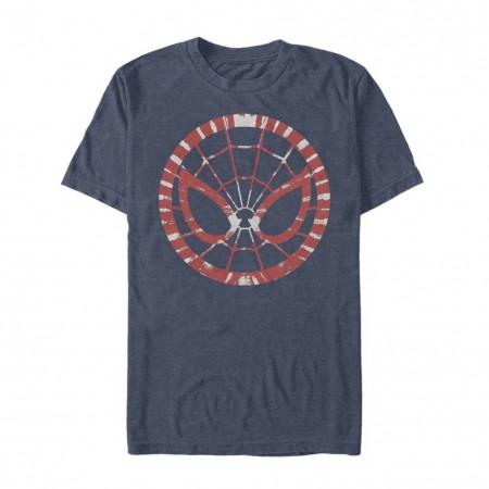 Spider-Man Tie Dye Mask Men's Grey T-Shirt