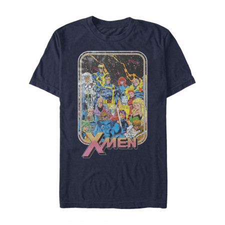 X-Men Classic Lineup Men's Blue T-Shirt