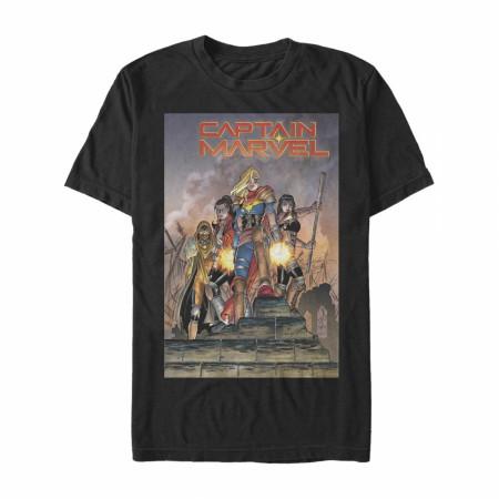 Captain Marvel #1 Comic Cover T-Shirt
