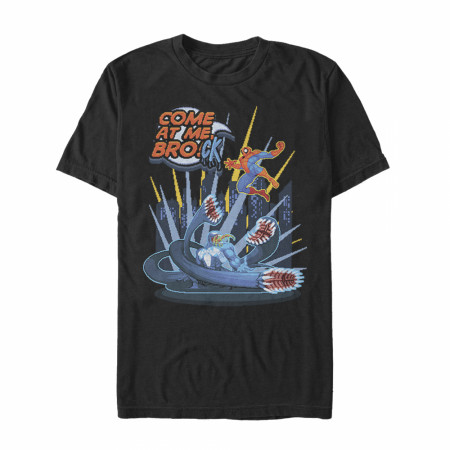 Marvel Spider-Man Come at Me Brock Black T-Shirt
