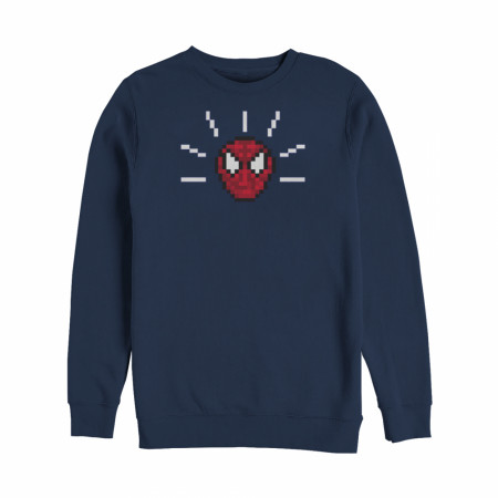 Marvel Pixelated Spider-Man Mask Sweatshirt