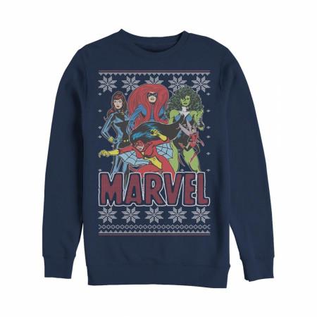 Marvel Girl Power Ugly Christmas Sweatshirt