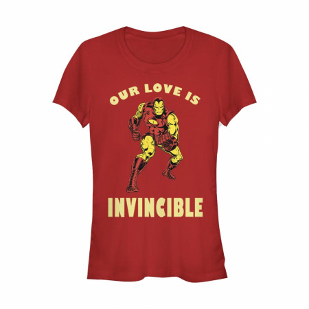 Iron Man Our Love is Invincible Women's Red T-Shirt
