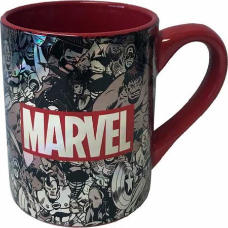 Marvel Comics Black and White Brink Logo Mug