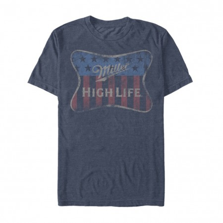 Miller High Life Beer Red White and Blue Label Men's T-Shirt