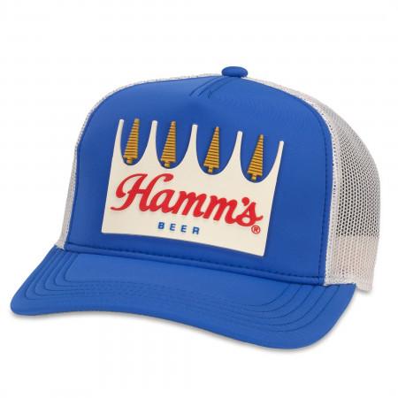 Hamm's Beer Vintage Blue Trucker Hat