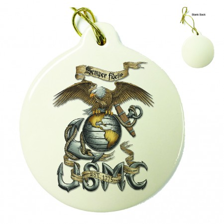 Marines Eagle USMC Porcelain Ornament
