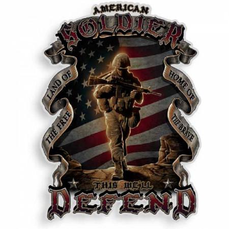 American Soldier Decal Sticker