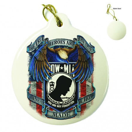 POW True Heroes Porcelain Ornament