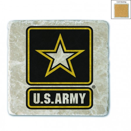 US Army Logo Stone Coaster