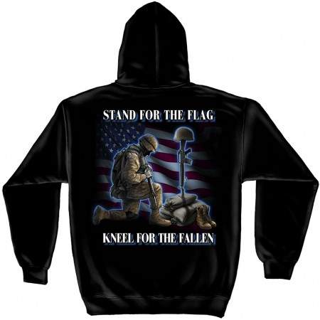 Stand For The Flag Kneel For The Fallen Hoodie