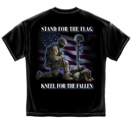 Stand For The Flag Kneel For The Fallen Tshirt