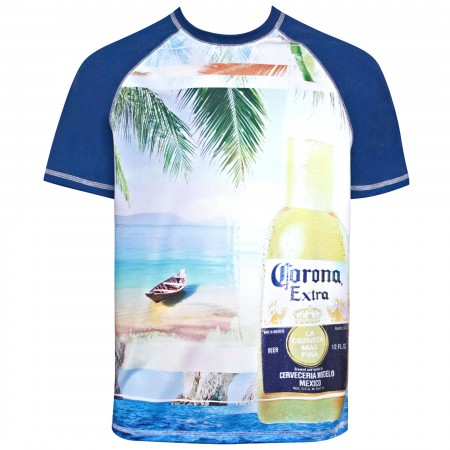 Corona Extra Men's Beach Scene T-Shirt