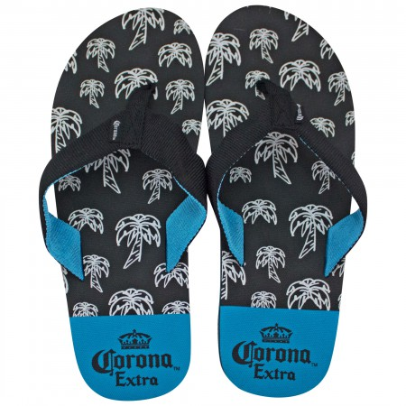 Corona Extra Black And Blue Sandals