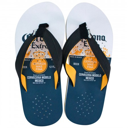 Corona Extra Blue And White Label Sandals