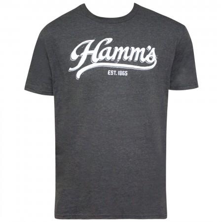 Hamm's Grey Script Logo Men's T-Shirt