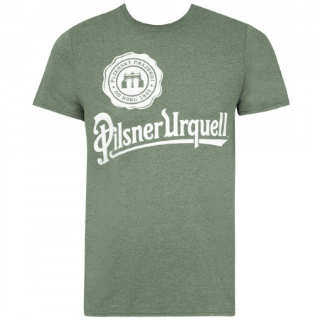 Pilsner Urquell Men's Green Logo T-Shirt