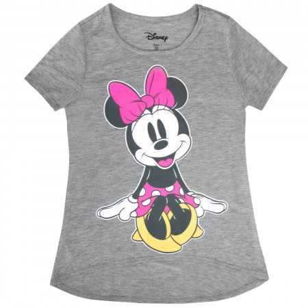 Minnie Mouse Cutie Grey Girl's Youth T-Shirt