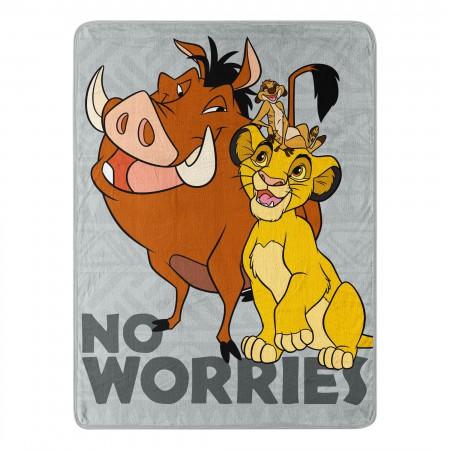 Lion King Timon And Pumbaa Fleece Blanket