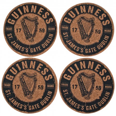 Guinness 4 Cork Coaster Set