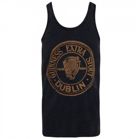 Guinness Extra Stout Men's Black Washed Tank Top