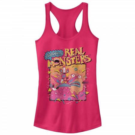 AAAHH!!! Real Monsters Pink Ladies Tank Top