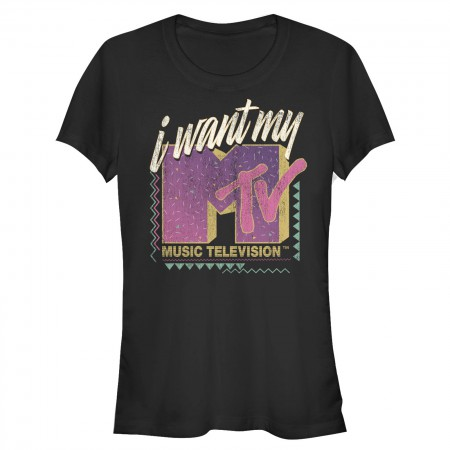 MTV Women's Black I Wany My MTV T-Shirt