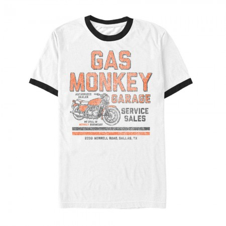 Gas Monkey Men's White Authorized Dealer T-Shirt